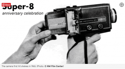 Super 8 camera with cartridge